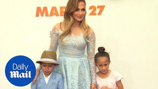 Family affair! Jennifer Lopez brings twins to Home premiere - Daily Mail