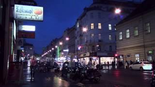 Vienna Cross Streets at Night (enhanced, normal speed)