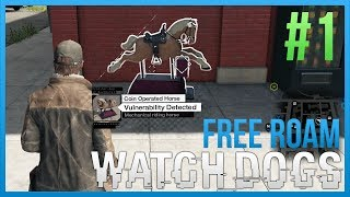 WATCH DOGS Free Roam Gameplay #1 - HORSEY (WatchDogs Single Player Free Roam) [PC 1080p]