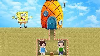 ESCONDERIJO 100% SECRETO DO BOB ESPONJA NO MINI WORLD!!