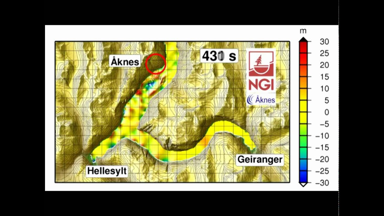 Numerical Model Tsunami Aaknes Geiranger Hellesylt YouTube - Norway map geirangerfjord