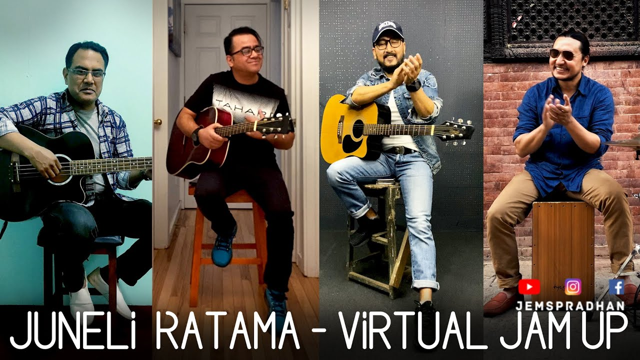 JUNELI RATAMA Virtual Jam up Session with Deepesh K Bhattarai