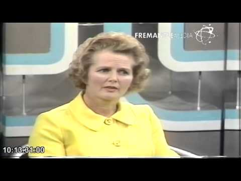 Margaret Thatcher - 1970's interview - Thames television