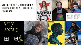VFX Notes Ep 3: Black Widow | Siggraph | The 'no CG' or 'bad CG' narrative in BTS | A visual podcast