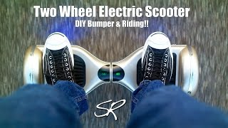 Self Balancing Electric Scooter DIY Bumper & RIDING!! | IO Hawk Monorover Phunkeeduck Tutorial