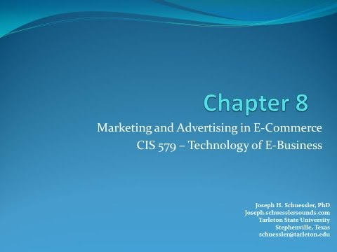 BCIS 5379: Chapter 8: Marketing and Advertising in E-Commerce