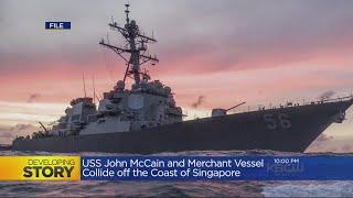 NAVY COLLISON: 10 U.S. Navy sailors missing following a collision near Singapore