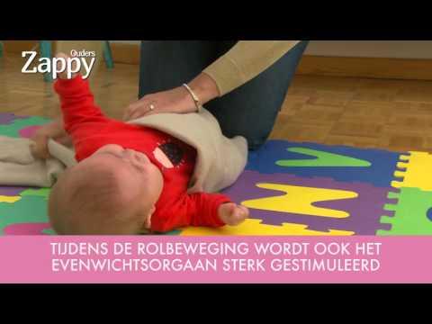 Hoe leer je je baby rollen