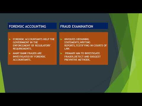 Forensic accounting Vs Fraud Examination