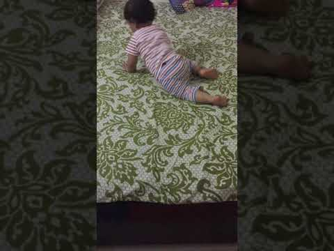 Baby Climbing Off Bed - Hilarious