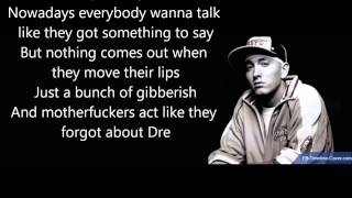 Repeat youtube video Dr Dre ft Eminem 'Forgot About Dre' Lyrics (Good Q