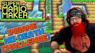 INSANE NO DEATH 100 MAN CHALLENGE - Super Mario Maker with Oshikorosu