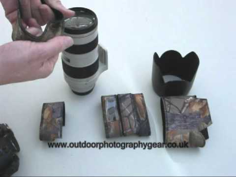 How to fit an Outdoor Photography Gear Neoprene Lens Cover