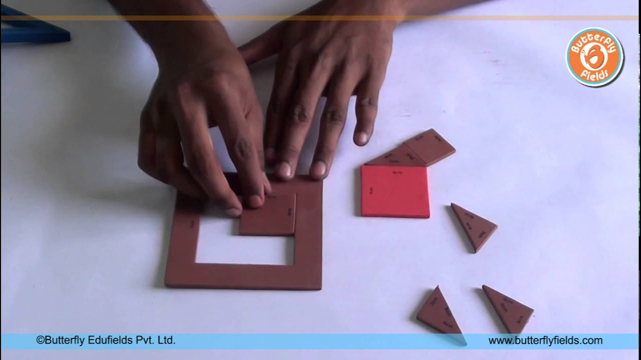 Make a model to prove Pythagoras Theorem | Math Projects | Butterfly Fields