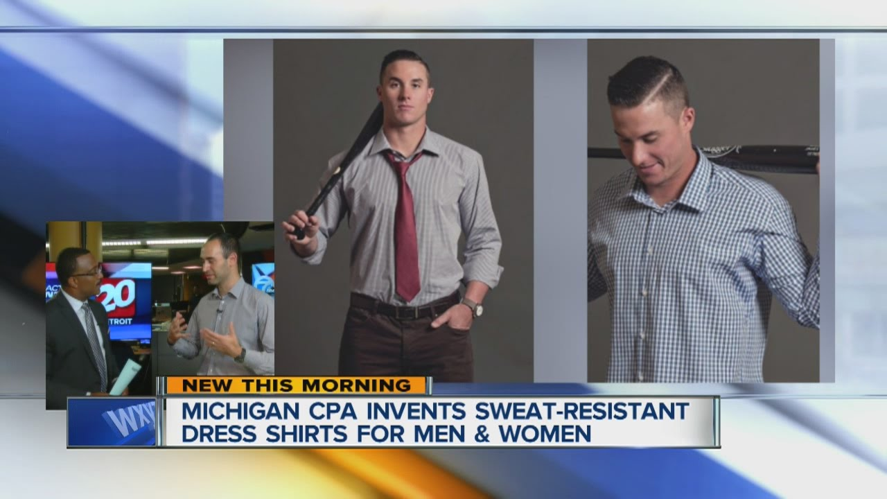 Michigan Cpa Invents Sweat Resistant Dress Shirts For Men And Women