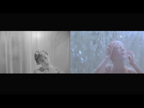 Psycho shower scene, 1960/1998 side-to-side comparison
