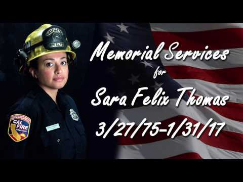 Memorial Services for Cal Fire fire fighter Sara Thomas