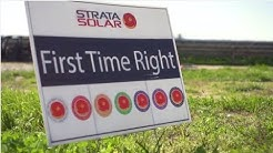 Strata Solar First Time Right