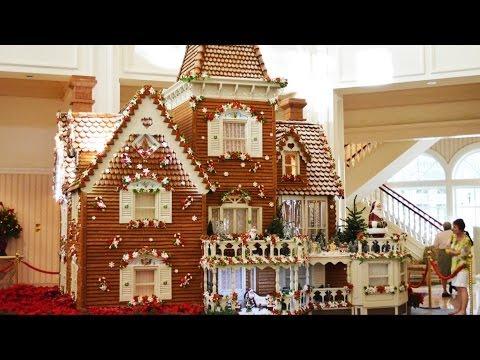"Disney's Grand Floridian Resort Gingerbread House - Final Dusting of ""Snow"" 2013 - Walt Disney World"