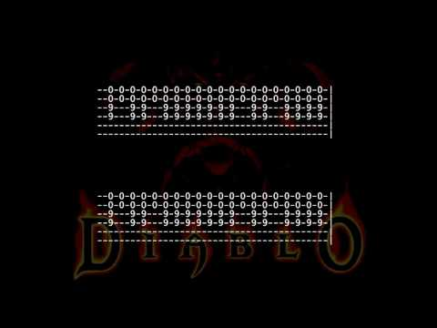 Diablo Music - Tristram [Full Guitar Tab For One Guitar] How to Play