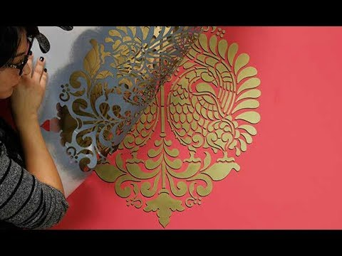 How to Paint a 3D Wall Stencil Design with Drop Shadow ...