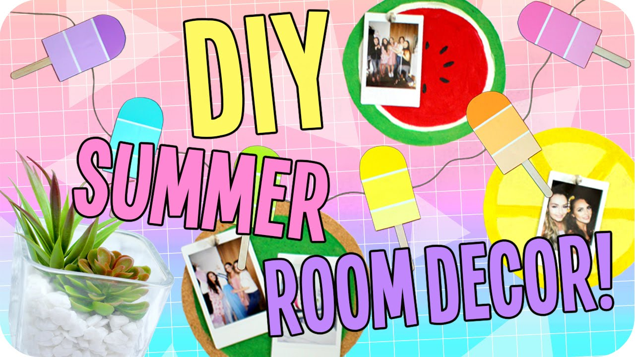 Diy summer room decor cheap easy youtube for Room decor gifts
