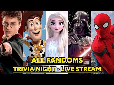 ALL FANDOMS Trivia Night LIVE STREAM!
