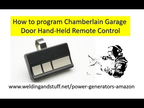 How To Program Chamberlain Garage Door Remote Hand Held Remote