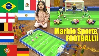 Marble Racing Sports! Marble Sports FOOTBALL Elimination Tournament with Fidget Spinners. Race #56