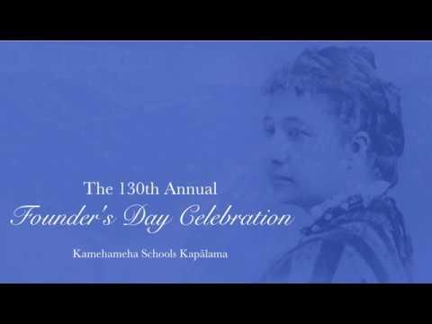 130th Annual Founderʻs Day Celebration at Kamehameha Schools Kapālama