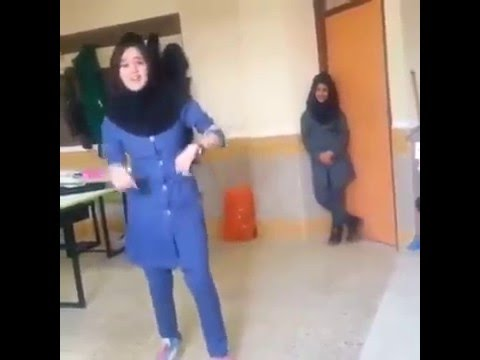 Cute Arab School Girl Dancing