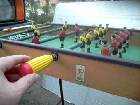 Vintage Stand Alone Hand Operated Foosball Soccer Game Table