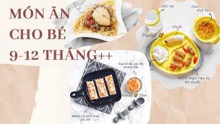 Thực Đơn Ăn Dặm Cho Bé 9-12 tháng (tăng thô, món bốc)// Peanut Ăn Dặm (Tập 17)