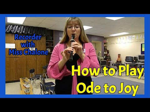 Ode to Joy - Recorder Tutorial