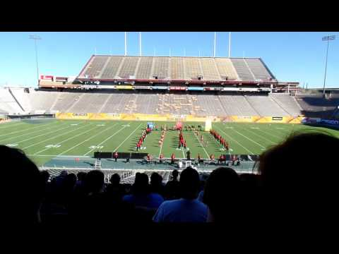 Desert Ridge High School Marching Band - ASU Band Day 2016