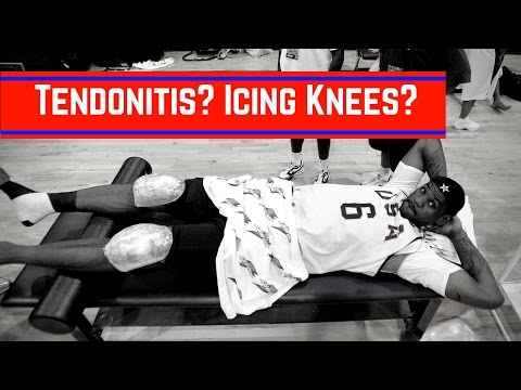 How To Ice Your Knees & Cure Tendonitis For Basketball | Dre Baldwin