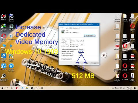 Increase Dedicated Video Memory on Windows 10(w/0 BIOS) at any Intel HD Graphics