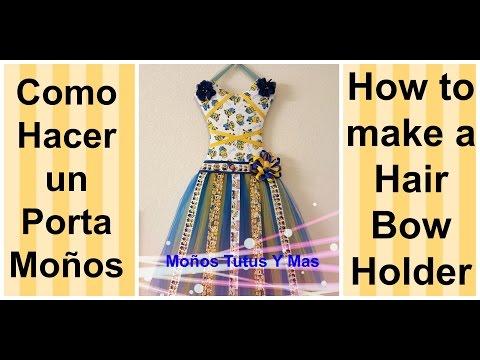 PORTA MOÑOS TUTU PARTE 2 Paso a Paso TUTU HAIR BOW HOLDER PART 2 Tutorial PAP How To DIY Video 166