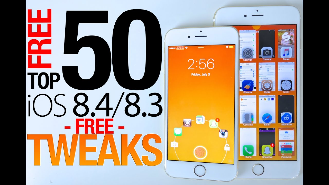 Top 50 FREE iOS 8.4 Cydia Tweaks Of ALL Time - 8.3 & 8.4 Taig Jailbreak Compatible