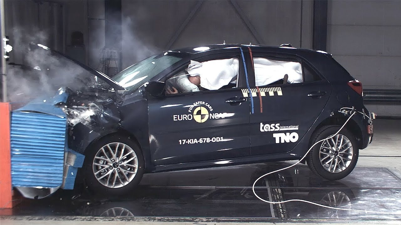 kia rio crash test euro ncap | rating - youtube