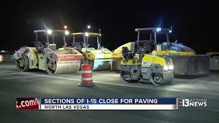 Road closures and construction has begun near the Las Vegas Motor S...