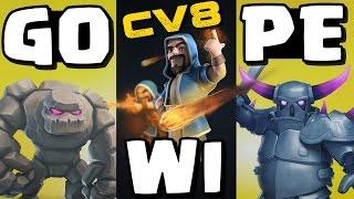 Clash of Clans #82 | Ataque GOWIPE CV8 dando PT em CV8 FULL | Push | Farm | War [PT-BR]