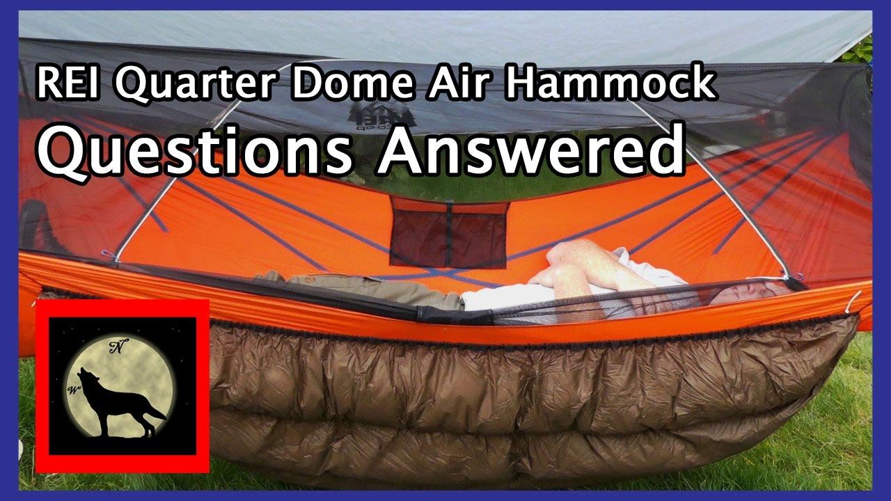 REI Quarter Dome Bridge Hammock - Questions Answered & REI Quarter Dome Bridge Hammock - Questions Answered - YouTube