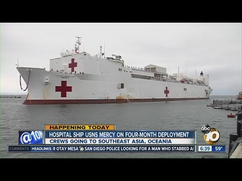 Hospital ship USNS Mercy leaves on 4-month deployment