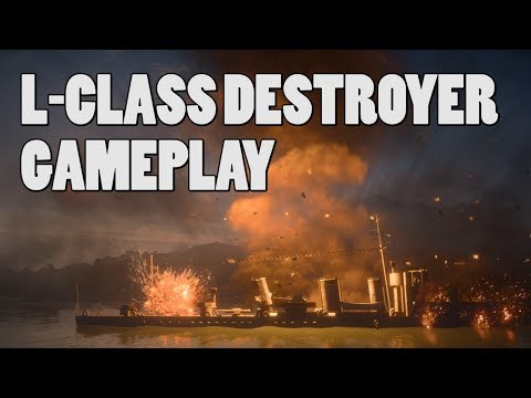 L-Class DESTROYER boat gameplay - Turning Tides Battlefield 1