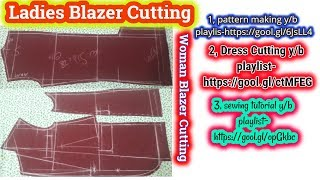[DETAILED] Ladies blazer cutting with formula*new tips*woman blazer cutting with formula