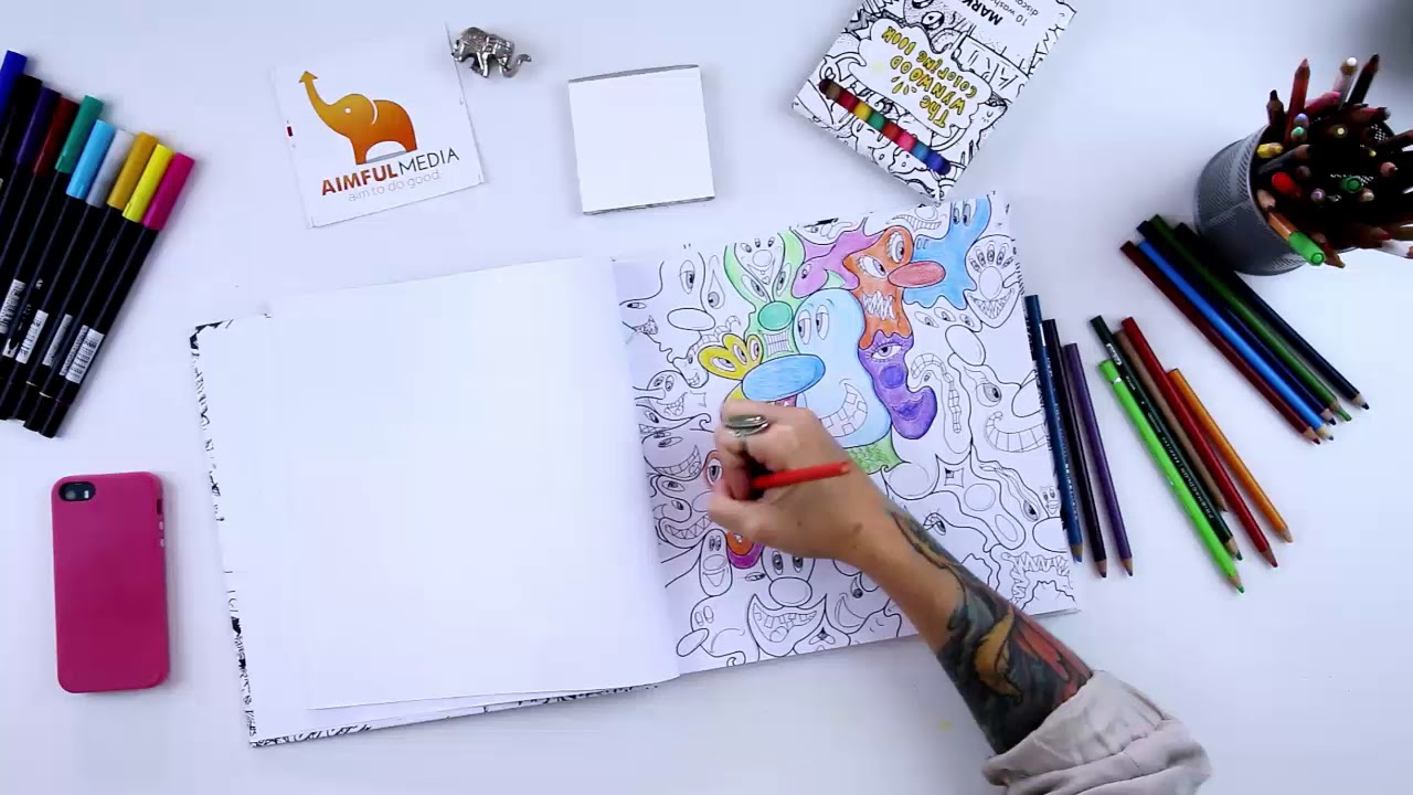 Kenny Sharf in The Ultimate Street Art Coloring Book - YouTube