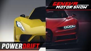 Bugatti Chiron Sport, Hennessey Venom F5 ft. Aditya Patel : Geneva Motor show 2018 : PowerDrift