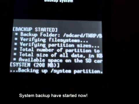 [HOW TO]Take a system backup on TeamWin Recovery for Htc Explorer A310e