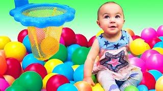 Баскетбольное кольцо для малышей. Развивающие игрушки для маленьких